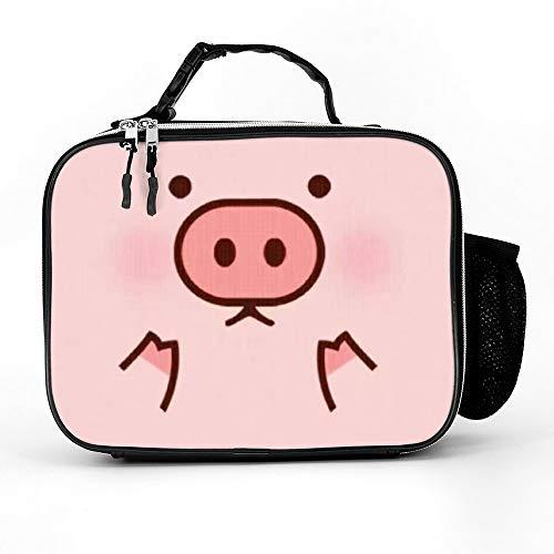 클래식 돼지 귀여운 돼지 만화에 의하여 인쇄되는 점심 식사자로 패딩이너 넓은 의하여 격리되는 점심 가방 튼튼한 열 점심 냉각기 팩 소년에 대한 남성이 여성 성인