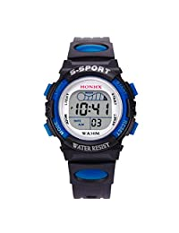 Quartz Wrist Watch,vmree Boys Waterproof Digital LED Sports Watch Kids Alarm Date Watch Gift