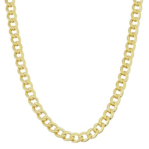 Kooljewelry Mens 14k Yellow Gold Filled 4mm High Polish Miami Cuban Curb Link Chain Necklace 14k Yellow Gold Mens Link