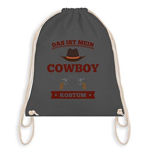 Shirtracer Karneval & Fasching - Das ist mein Cowboy Kostüm - Turnbeutel I Gym Bag Dunkelgrau