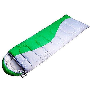 zyt Saco de dormir rectangular saco de dormir Cama individual (150 x 200 cm) 0 algodón hueca 220 x 75, verde: Amazon.es: Deportes y aire libre