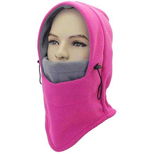Miracu Lightweight Balaclava Windproof Ski Face Mask for Men, Women, Soft Warm Fleece Ear-Flap Winter Hat/Hood for Outdoor Sports