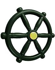 CALIDAKA Playground Steering Wheel Swingset Steering Wheel Nautical Beach Boat Ship Steering Wheel Playset Accessories Pirate Ship Wheel for Jungle Gym or Swing Set/Random color