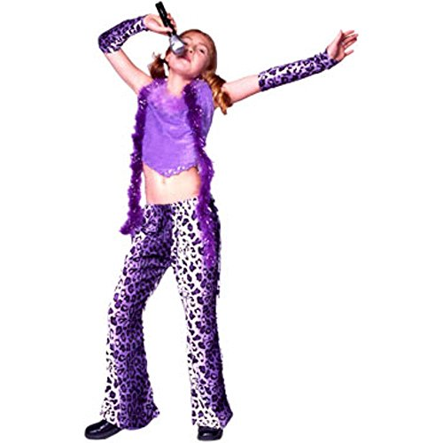 Child Leopard Rock Star Girl Costumes (Child Leopard Rock Star Girl Costume, Size Youth Medium 8-10)