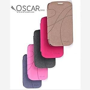 WQQ Teléfono Móvil Samsung - Carcasas de Cuerpo Completo - Color Sólido - para Samsung S3 I9300 ( Negro/Rojo/Marrón/Rosado , Cuero PU ) , Pink