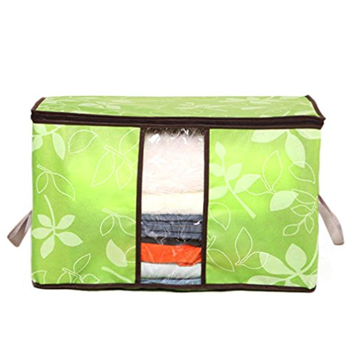 Green Jumbo Bin - Storage Bag ,IEason Clearance Sale! Storage Organization/Designer Flower Printed Quilt Storage Bags (Green)