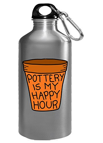 Pottery Is My Happy Hour - Water Bottle