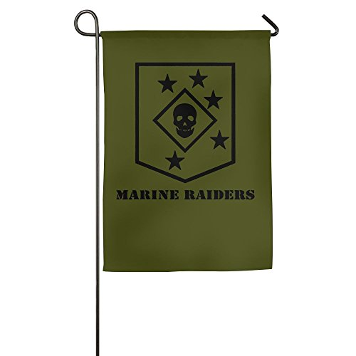 Marine Raiders Subdued Veteran 100% Polyester House Flag Decorative Garden Flag Yard Banner Garden Flags (Subdued Marine)
