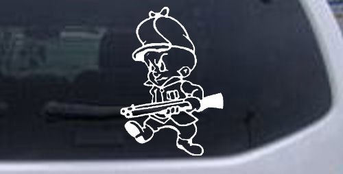 white-43in-x-3in-elmer-fudd-hunting-cartoons-car-window-wall-laptop-decal-sticker