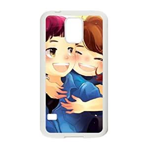 Samsung Galaxy S5 Cell Phone Case Covers White cartoons Love Couple Animated