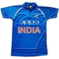HeadTurners Indian Cricket Team ODI 2018-2019 Jersey T-Shirt for Kids, Boys and Men- Blue