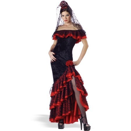 Senorita Adult Costume - Large - Flamenco Dancer Costume Man