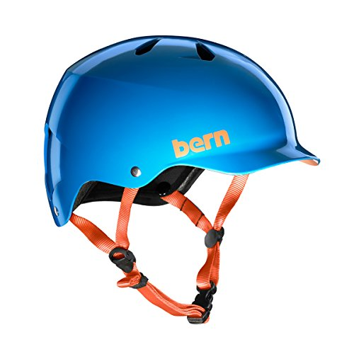 Bern 2017 Team Watts EPS Summer Bicycle/Skate Helmet (Gloss Azure Blue - L)