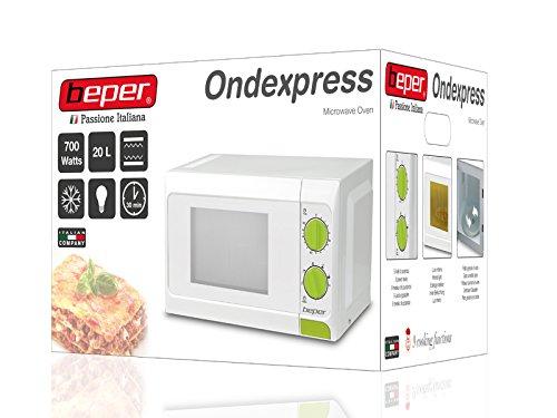 Beper 90.365G - Horno microondas, 20 l, con grill, color blanco: Amazon.es: Hogar
