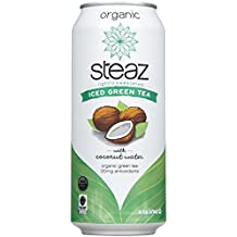 Steaz Iced Green Tea - with Coconut Water - 16 OZ - 12 pk