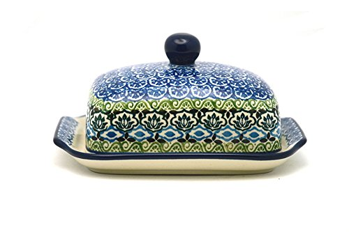 - Polish Pottery Butter Dish - Tranquility