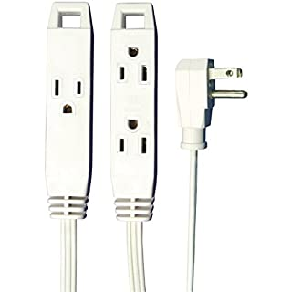 Axis 3-Outlet Indoor Extension Cord with Flat-Profile Plug - 8-foot, White (45505) (B006ZON7Y6)   Amazon price tracker / tracking, Amazon price history charts, Amazon price watches, Amazon price drop alerts