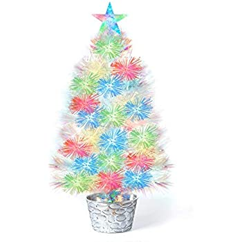 White Fiber Optic Christmas Tree - 25