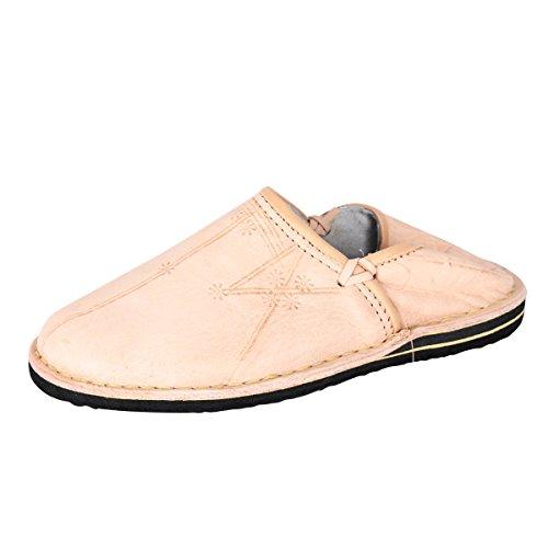 albena Marokko Galerie Unisex Marokkanische Schuhe Leder Pantoffel Natur