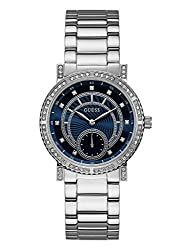 Guess Women's Quartz Stainless Steel Casual Watch, Color:silver-toned (Model: U1006l1)