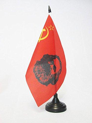 BANDIERA DA TAVOLO URSS CON MARX 21x14cm - PICCOLA BANDIERINA COMUNISTA - MARXISMO 14 x 21 cm - AZ FLAG