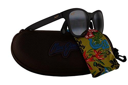 Maui Jim Hana Bay Sunglasses Matte Black w/Polarized Grey Lens - Byron Bay Sunglasses