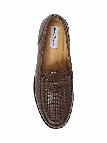 Tommy Bahama Mens Maya Bay Mocassino Tessuto Marrone Scuro