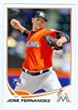 Jose Fernandez baseball card (Florida Marlins) 2013 Topps #589 Rookie Card