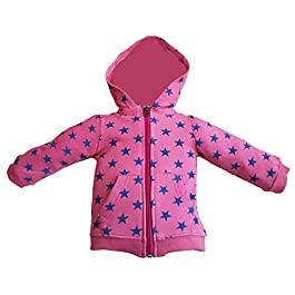 Baby Boys Or Girls red Hoody with Stars. Made from 100% Cotton and Perfect for Everyday