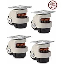 Buy Casters Retractable Leveling Machine Casters - 4 Pack - 2,400 lbs Per Set