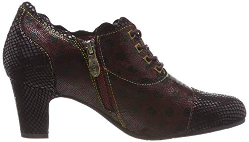 03 Zapatos de Wine Mujer para Cordones Elodie Wine Laura Rojo Oxford Vita aSgtEE