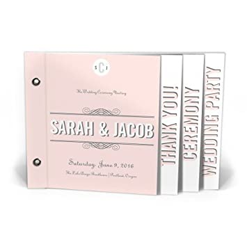 amazon com wedding programs classic scrolls flip book beeyond