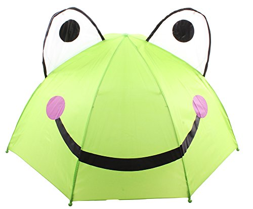 Enimay Children's Winter Spring Cute Character Animal Rainy Day Umbrella Frog One Size (Day Frogs Rainy)