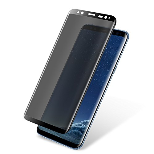 Galaxy S9 Plus Privacy Screen Protector, ANKU S9 Plus Premium [3D Curved] [Case Friendly] [Anti-Scratch] 9H Hardness Tempered Glass Film Screen Protector Compatible Samsung Galaxy S9 Plus (Black)
