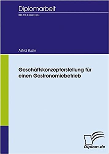 Geschäftskonzepterstellung Für Einen Gastronomiebetrieb German