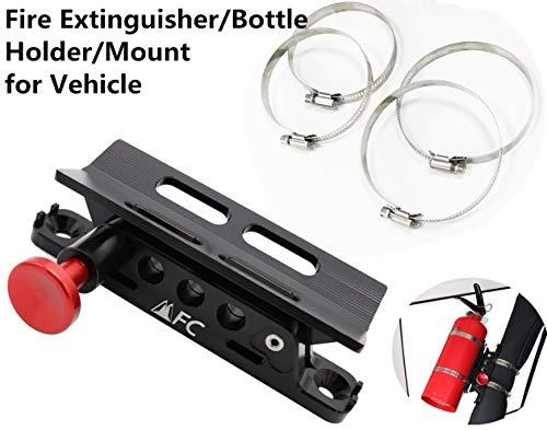 (MFC Adjustable Fire Extinguisher/Bottle Holder for Jeep Wrangler TJ JK JKU JL UTV Polaris RZR Ranger, Aluminum)
