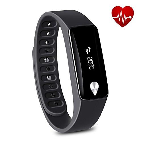 Tonbux Fitness Tracker M3 Sport Armbanduhr Aktivitätstracker Schrittzähler Pulsuhr Herzfrequenz Monitor Smart Bracelet Smartwatch Kamera Fernbedienung für Android und iOS Smartphone