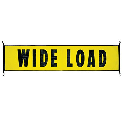 Vulcan Stretch Cord Mesh Wide Load Banner with Heavy Duty Metal Hooks (18