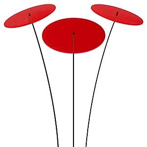 SUNPLAY Sonnenfänger-Scheiben in ROT, 3 Stück je 20 cm Durchmesser im Set +...