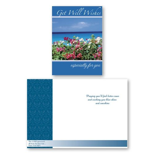 12PK-BOXED-Landscape-Get-Well-CARDS-Bulk-with-KJV-Scripture-Bridge-Tree-Water-Pathway-Greeting-Cards-Sick-for-Her-for-Him-Flowers