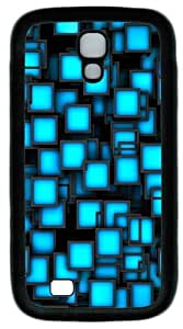 Blue Party Neon Square Custom Designer Samsung Galaxy S4 Case and Cover - TPU - Black