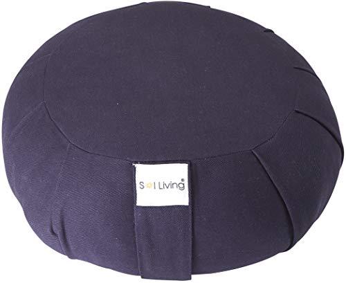 Sol Living 100% Organic Cotton Zafu Meditation Cushion, Meditation Cushion with Full Back Support...