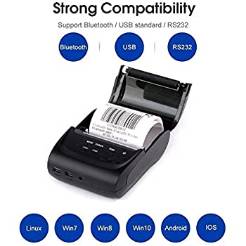 Amazon.com: NETUM Wireless Bluetooth Receipt Thermal Printer ...
