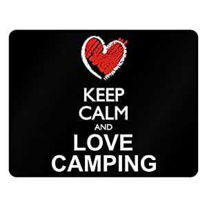 Idakoos Keep calm and love Camping chalk style - Hobbies - Plastic Acrylic