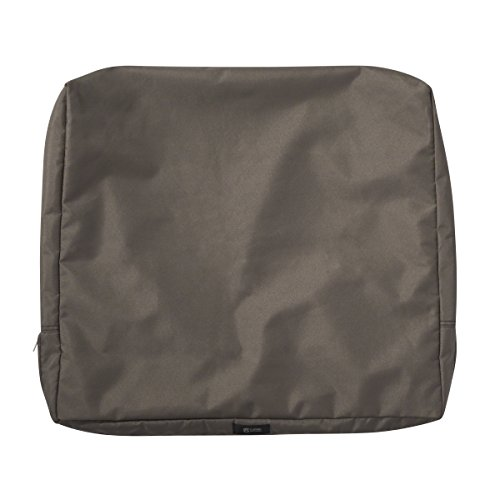 Classic Accessories Ravenna Patio Back Cushion Slip Cover, Dark Taupe, 25″ x 22″ x 4″