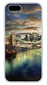 Brian114 iPhone 5S Case - City New York 25 Back Case Cover for iPhone 5 5S Hard White Cases