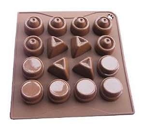 Allforhome 16 cavidades silicona pastel molde para hornear - Moldes silicona amazon ...