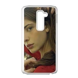 LG G2 Cell Phone Case White hb99 ashlyn pearce beauty model OJ472452