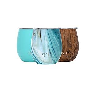 Simple Modern Spirit 8oz Wine Tumbler - Vacuum Insulated Double Wall Wine Accessory - 235 ml 18/8 Stainless Steel Travel Mug - Ocean Quartz