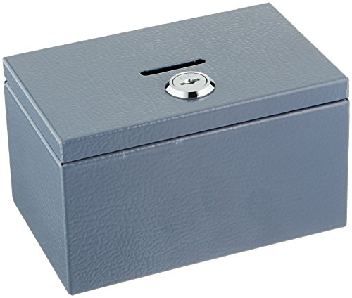 Buddy Products Stamp and Coin Box, Steel, 3.375 x 3 x 5.5 Inches, Gray (0505-1)